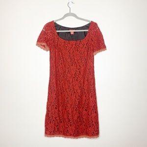 Sundance Lace Red Dress